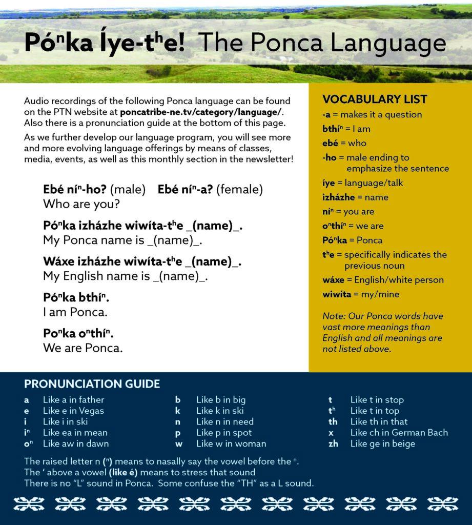 Ponca Language