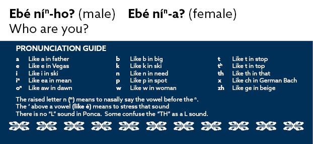 Ebé nín-ho? (male)  Ebé nín-a? (female)   Who are you?